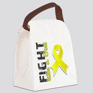 D Fight Like A Girl Endometriosis Canvas Lunch Bag