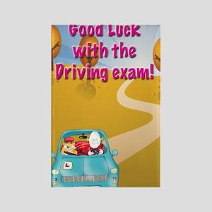 driving exam,good luck Rectangle Magnet