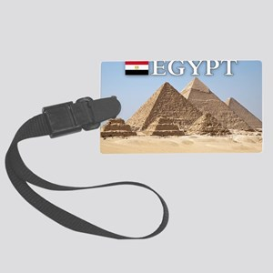et-pic-pyramids Large Luggage Tag
