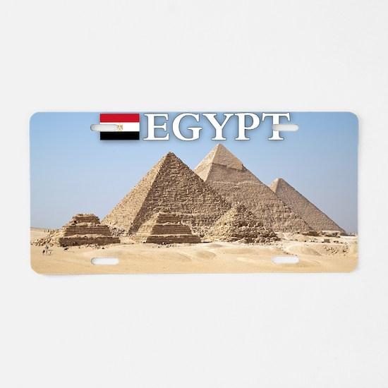 et-pic-pyramids Aluminum License Plate