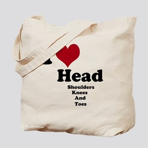i love head. Tote Bag