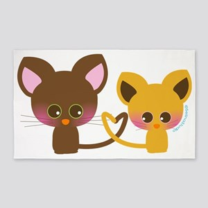 mouse couple 3'x5' Area Rug