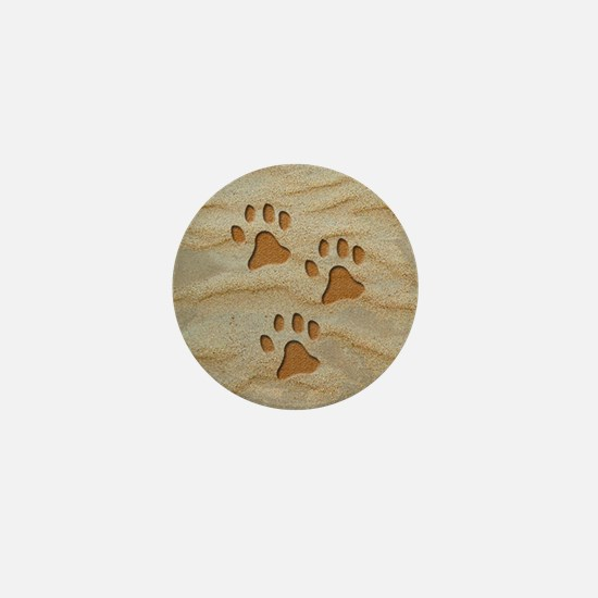 necklace round paws sand Mini Button