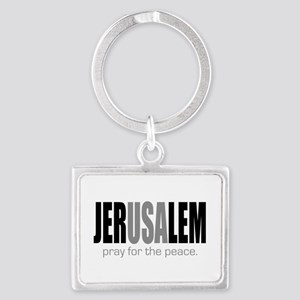 Pray for the Peace of Jerusalem Keychains