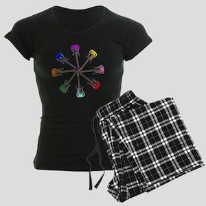 Guitar wheel - Color Women's Dark Pajamas