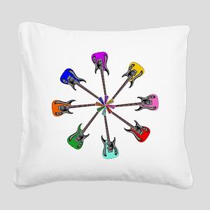 Guitar wheel - Color Square Canvas Pillow