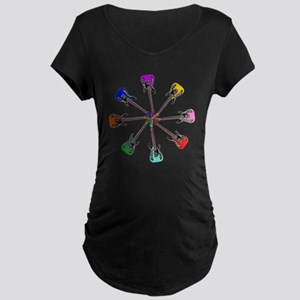 Guitar wheel - Color Maternity Dark T-Shirt