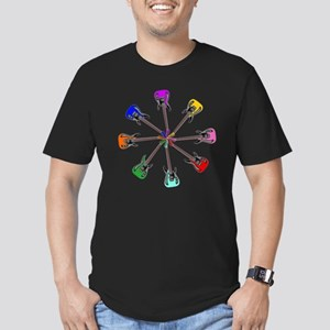 Guitar wheel - Color Men's Fitted T-Shirt (dark)