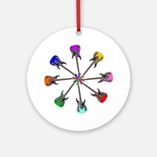 Guitar wheel - Color Round Ornament