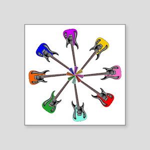 """Guitar wheel - Color Square Sticker 3"""" x 3"""""""