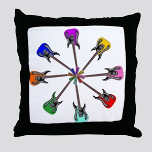 Guitar wheel - Color Throw Pillow