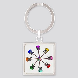 Guitar wheel - Color Square Keychain
