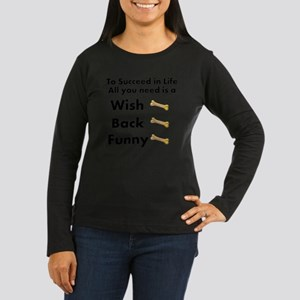 wishbone Women's Long Sleeve Dark T-Shirt