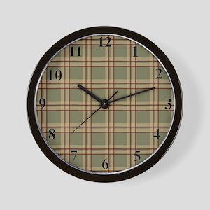 clockplaidgreen Wall Clock
