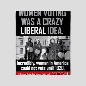 women voting Throw Blanket