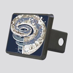 Geological_time_spiral Rectangular Hitch Cover