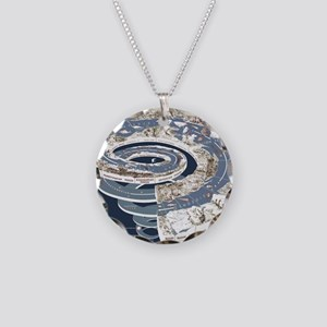 Geological_time_spiral Necklace Circle Charm
