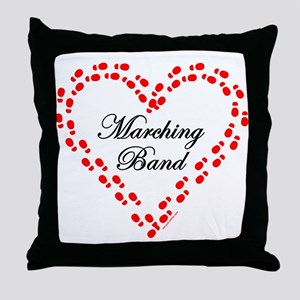 Red Marching Band Heart Throw Pillow