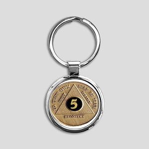 5coin Round Keychain
