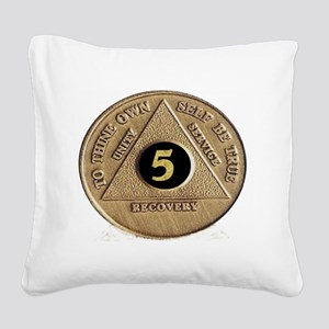 5coin Square Canvas Pillow