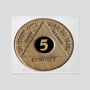 5coin Throw Blanket