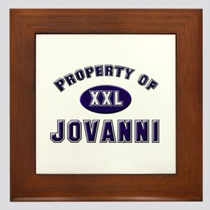 Property of jovanni Framed Tile