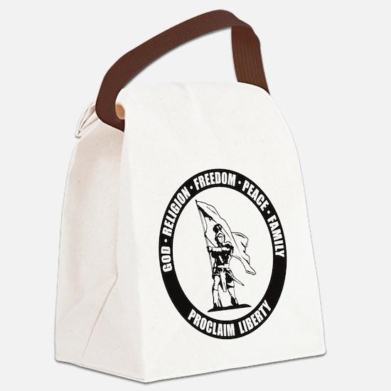 Moroni Proclaim Liberty final Canvas Lunch Bag
