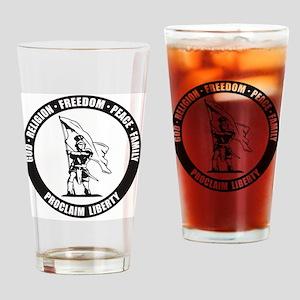 Moroni Proclaim Liberty final Drinking Glass