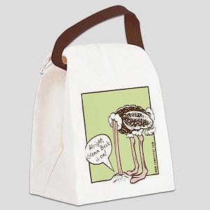 glenn_ostrich_outln Canvas Lunch Bag