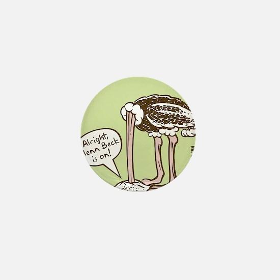 glenn_ostrich_outln Mini Button
