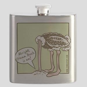 glenn_ostrich_outln Flask
