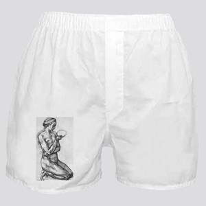 Nude Woman on her Knees Boxer Shorts