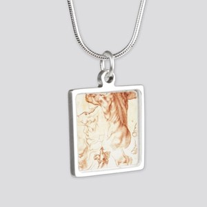 Drawing for the Libyan Syb Silver Square Necklace