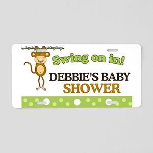 Monkey Baby Shower Sign Aluminum License Plate
