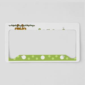 Monkey Baby Shower Sign License Plate Holder