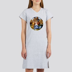 The Holy Family with Infant St  Women's Nightshirt