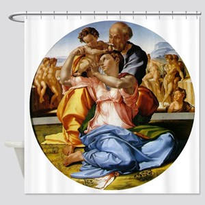 The Holy Family with Infant St John Shower Curtain