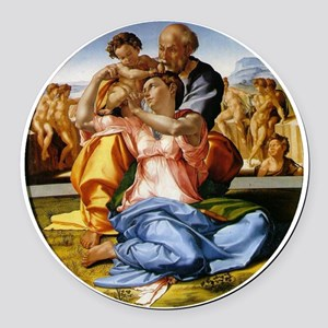 The Holy Family with Infant St Jo Round Car Magnet