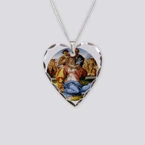 The Holy Family with Infant S Necklace Heart Charm