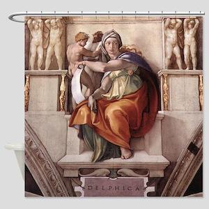The Delphic Sybil Shower Curtain