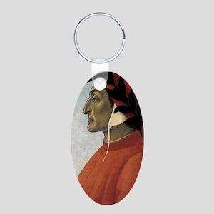 Portrait of Dante Aluminum Oval Keychain