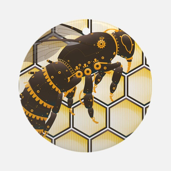 Buzz Buzz Mousepad Round Ornament