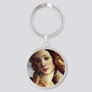 The Birth of Venus (detail) Round Keychain