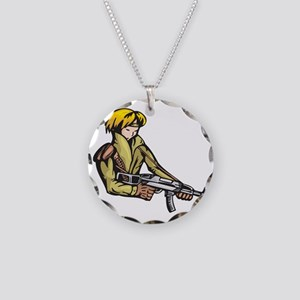 anime_fighter_026c Necklace Circle Charm