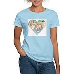 pink t-shirt- Little Wolf at creek