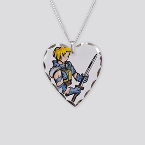 anime_fighter_038c Necklace Heart Charm