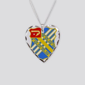 DUI- 3rd Bn 18th Field Artill Necklace Heart Charm