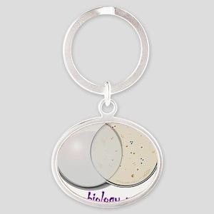Petri dish Oval Keychain