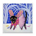 Black Sugar Plum Fairy Cat ART Tile