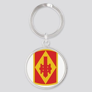 DUI-75 FIRES BDE HQ AND HQ BATTERY  Round Keychain